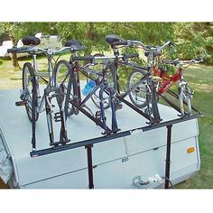 Transport up to 4 bikes on your pop-up camper trailer with this innovative and…