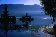 Ulu Danau Hindu temple, Lake Bratan  Ancient Ulu Danau Hindu temple on Lake Bratan. ~ Alain Evrard Lonely Planet Photographer