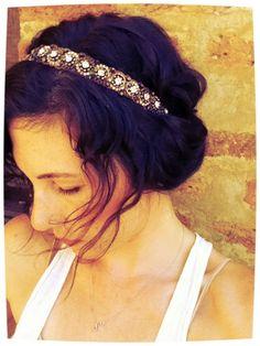 hair jewelry (city hall wedding idea)