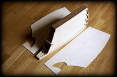 """Custom made High End HiFi speaker """"SAIL"""" under construction - plywood sandwich  before assembly"""