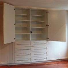 Where your bedroom doesn't have any built-in closets or cupboards, building your own built-in cupboards allows you to custom design storage ...