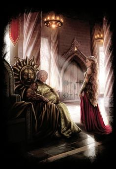 Meeting between Meria Martell and Rhaenys Targaryen - by Magali Villeneuve. (The World of Ice and Fire, The Reign of the Dragons: The Conquest) #ASOAIF