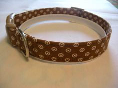 Handmade Cotton Dog Collar - Brown Polka Dots by WalkingTheDog on Etsy