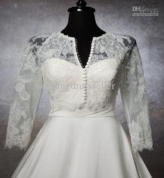 Wholesale Bridal Accessories - Buy Hot Sale!!! Elegant Buttoned Appliques Long Sleeves Bridal Jackets Bridal Dresses., $32.0 | DHgate
