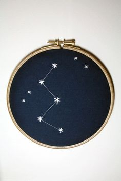 A simpler constellation but still just as amazing. What better way to combine a love of astronomy and crafting.