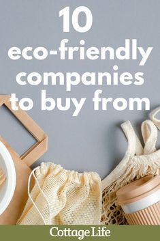 Looking to be more eco-friendly? Try shopping at one of these eco-friendly companies. #ecofriendly #ecofriendlyaesthetic #CottageLife Cottage Design, Cottage Style, Canadian Clothing, Uses For Coffee Grounds, Eco Friendly Fashion, Cottage Interiors, Feel Good, Shopping, Decor