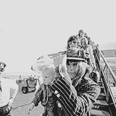 """"""" #TIMELESSTIME ➪ Keith Richards and Anita Pallenberg with their son Marlon together with the Rolling Stones arrived in Copenhagen Airport, September 1970. As part of their European tour, the Rolling..."""