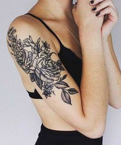 Cute Flower Tattoos on Arm for Girls #HotTattoos