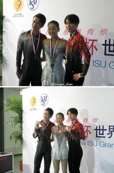 With Mao Asada(JAPAN) and Tatsuki Machida(JAPAN) : Cup of CHINA 2012
