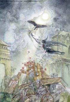 Stephanie Law - The INNOCENT: Innocence dances beyond despair. For all the shit that life throws at us, the Innocent cannot be entirely defeated. However fragile she appears, Innocence endures. - Dreamdance Oracle
