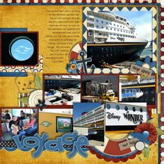 DCL Terminal, Port Canaveral - Page 3 - MouseScrappers.com Cruise Scrapbook Pages, Vacation Scrapbook, Disney Fantasy Cruise, Disney Cruise Line, Disney Ideas, Disney Vacations, Cruises, Scrapbooking Layouts, Diy Cards