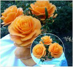 Pumpkin flower bouquet by Atelie ABCarving