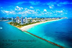 Miami Beach Aerial Fine Art Photograph by ArtWagerPhotos on Etsy
