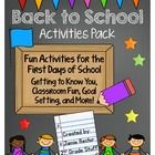 Do you need some quick, easy, engaging activities for the first few days of school?  This product includes activities that will keep you students e...