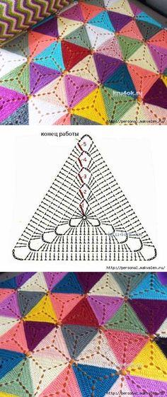 A cuadros de motivos triangulares multicolores