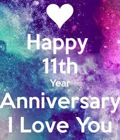 Happy 11th Year Anniversary I Love You Poster | vitamand | Keep ...