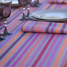 bright coloured table linen