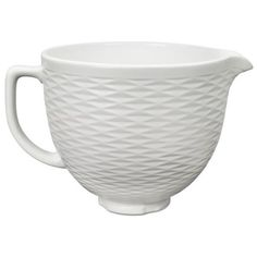 Kitchenaid White Chocolate Embossed 5-Qt. Ceramic Bowl White -... (€85) ❤ liked on Polyvore featuring home, kitchen & dining, white chocolate and kitchenaid