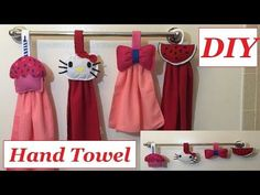 DIY Kitchen Hand Towel or Bathroom Hand Towel Ideas Cute and Easy to make #28 - YouTube