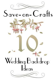 Top 10 Wedding Backdrop Ideas - The backdrop you choose for your wedding may not be number one on your to-do list, but it should be. The wedding altar will likely be the most photographed location during your special day, so we've put together our top ten ideas to help you make your ceremony absolutely flawless.