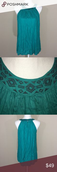 """Soft Joie """"illy"""" teal tribal print top NWT it's just wrinkled in my pictures! Pretty teal color, soft and flowy! Would be great with flared jeans and wedges! Joie Tops Blouses"""