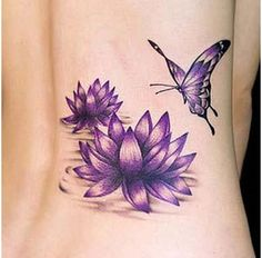 lotus tattoo love the color and the shading.