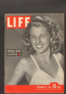 Life Magazine September 25 1944 Special Issues letter GIs WWII Articles and Ads Vintage Magazines, Life Magazine, Wwii, September, Articles, Ads, Lettering, Books, Livros