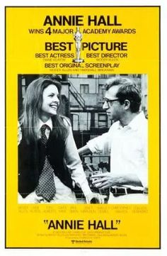 Official theatrical movie poster ( of for Annie Hall Directed by Woody Allen. Annie Hall Movie, Film Annie, Romantic Comedy Movies, Romance Movies, Diane Keaton Woody Allen, Dianne Keaton, Martin Eden, Academy Awards Best Picture, Zone Telechargement
