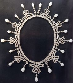 Pearl and Diamond necklace, part of a Parure owned by Empress Maria Feodorovna.