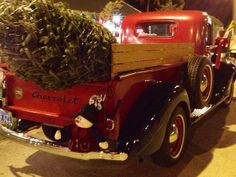 Vintage Christmas truck