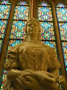 Empress Elisabeth of Austria - Queen Elizabeth of Hungary, 1837-1898, Sculpture located in St Matthias Church in Budapest, Hungary.