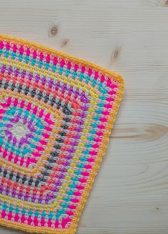 My Latest Crochet Projects - bright and colourful crochet blanket
