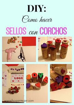 Actividad para niños. Sellos con Corchos de botellas Diy For Kids, Crafts For Kids, Arts And Crafts, Cork Crafts, Diy Crafts, Diy Stamps, Knitted Bunnies, Rainbow Art, Toddler Activities
