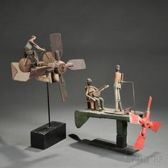 Two Figural Whirligigs - Current price: $950