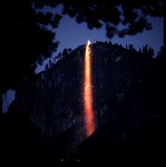 Firefall from Glacier Point at Yosemite National Park.