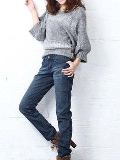 Korean style slim fit straight jeans Skinny Jeans Style, Cheap Jeans, Korean Style, Korean Fashion, Slim, Fitness, Pants, Women, K Fashion