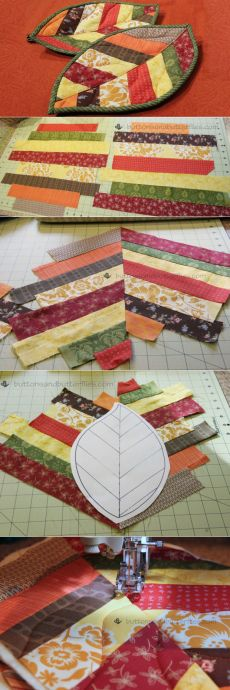 Quilted Leaf Potholders Are So Easy to Make! - Quilting Digest