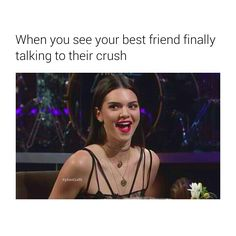 When you see your best friend finally talking to their crush. | Follow @kykenoutfit for more.