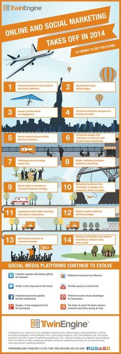 #Infografik: 14 Trends für #SocialMedia Marketing 2014