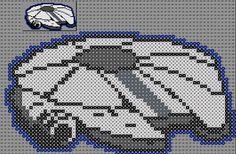 pixel art en perle hama: star wars pixel art