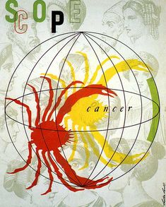 """""""Scope"""", (cancer) Graphic by Lester Beall (b. 1903 - d. 1979, American)."""