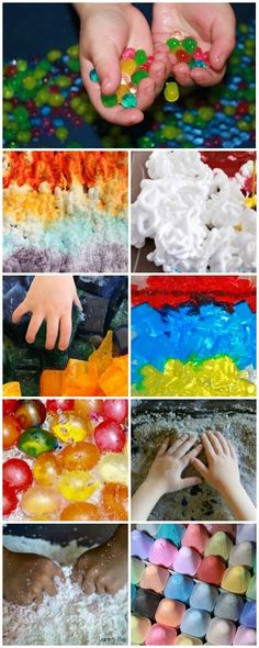 10 favorite sensory materials for summer fun as well as many ways to use them. Make this the best summer ever! Sensory Bins, Sensory Activities, Sensory Play, Summer Activities, Toddler Activities, Sensory Table, Fun Learning, Learning Activities, Messy Play