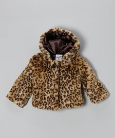 Take a look at this Brown Leopard Faux Fur Coat - Infant on zulily today!