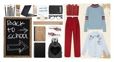 """Back-to-school outfit"" by gretawhistling on Polyvore featuring moda, The Elder Statesman, Rails, RED Valentino, Gallery, Speck, Post-It, EyeBuyDirect.com, Artek e Gucci"