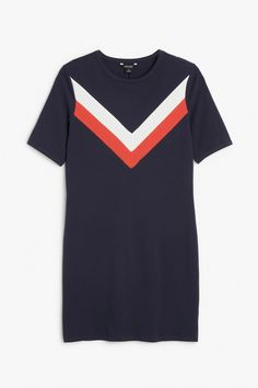 Chevron fitted dress