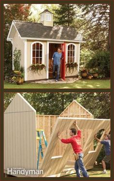 (How to Build a Cheap Storage Shed) http://www.familyhandyman.com/sheds/how-to-build-a-cheap-storage-shed/view-all