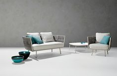 Giant outdoor sofas, airy daybeds and inviting lounge chairs are the perfect place to sprawl out, read, relax or snooze. Outdoor Armchair, Outdoor Sofas, Outdoor Furniture, Outdoor Living, Cozy Sofa, White Cushions, Low Tables, Luxury Sofa, Comfortable Sofa