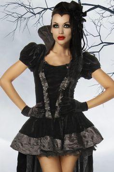 Vampirinkostüm Luxuskostüm Vampkostüm, Halloween Kostüm