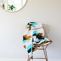 The Sedona Throw; inspired by the southwest. Seek & Swoon designs travel-inspired knit cotton blankets in Portland, Oregon. American made from recycled cotton. Southwestern Chairs, Southwestern Throws, Pink Palette, Wool Dryer Balls, Warm In The Winter, Cotton Blankets, Decorative Throws, Knitted Blankets, Baby Shop