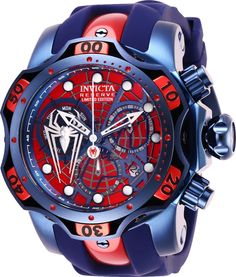 Shop a great selection of Invicta Men's Marvel Stainless Steel Quartz Watch Silicone Strap, Blue, 26 (Model: Find new offer and Similar products for Invicta Men's Marvel Stainless Steel Quartz Watch Silicone Strap, Blue, 26 (Model: Brand Name Watches, Sport Watches, Stylish Watches, Luxury Watches For Men, Amazing Watches, Cool Watches, Patek Philippe, Brown Leather Strap Watch, Hand Watch